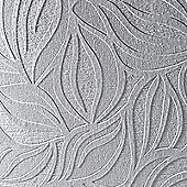 Superfresco Paintable Eden Geometric Textured White Wallpaper