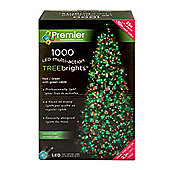 Premier 1000 Tree Brights Christmas Tree Lights Red/Green