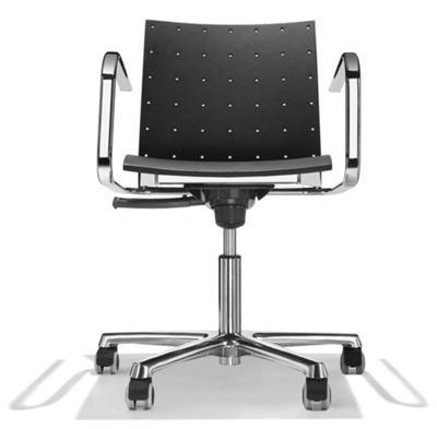 Parri Toffee Office Armchair with Tilt - Lacquer - Stained Black