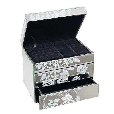 Emily Venetian Mirrored Jewellery Box with 2 Drawers