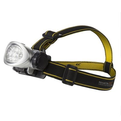 Regatta 10 LED Head Torch - Black/Seal Grey
