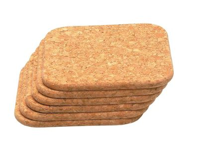 T&G 15040 Cork Coasters Sq 100Mm X6