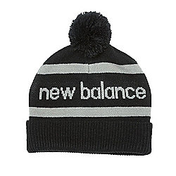 New Balance Mens Snowball Winter Pom Pom Beanie Hat - Black b0eb59bb9b5