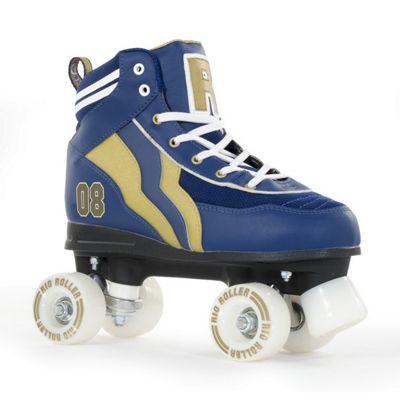 Rio Roller Varsity Quad Skates - Blue/Gold - Size - Junior UK 13