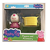 Peppa Pig Figure and Accessory (Suzy Sheep W/Basket)