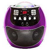Goodmans Portable LED Display Karaoke Machine - Purple