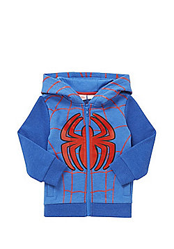 Marvel Spider-Man Zip-Through Hoodie - Blue & Red
