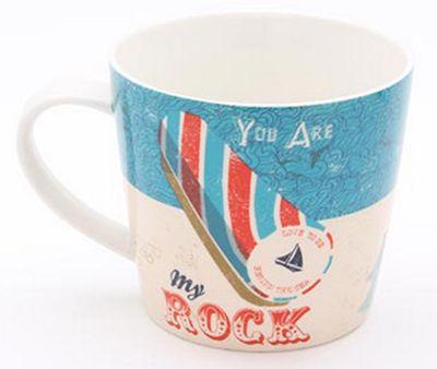 Jill White Rocket 68 Single Ahoy Seaside Rock Mug