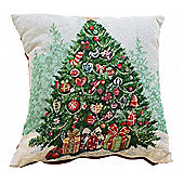 Christmas Tree Tapestry Cushion Cover