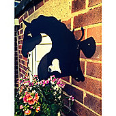 Made O'Metal Horse Head Hanging Basket Bracket