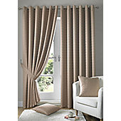 Alan Symonds Madison Latte Eyelet Curtains - 90x108 Inches (229x274cm)