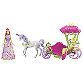 Barbie Dreamtopia Sweetville Carriage & Unicorn