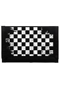 Checker Board Ripper Black Wallet 13x8cm