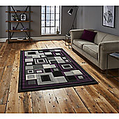 Hudson Square Black & Purple Runner - 60x220cm