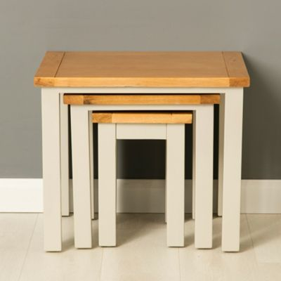 Mullion Grey Nest of Tables - Stone Grey