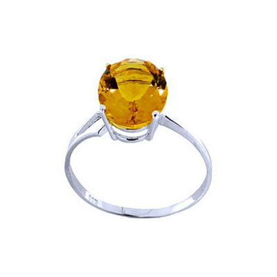 QP Jewellers 2.20ct Citrine Marvel Ring in 14K White Gold - Size L 1/2