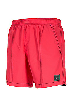 "Speedo Check Trim 16"" Leisure Beach Pool Water Swim Short Salmon - XS"
