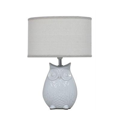 37.5cm Ivory Owl Table Lamp W.