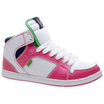 Etnies Perry Mid SMU White/Pink Womens Shoe