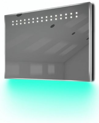 Ambient Ultra-Slim LED Bathroom Mirror With Demister Pad & Sensor K12T