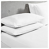 Egyptian Cotton Double Fitted Sheet, White, 400TC