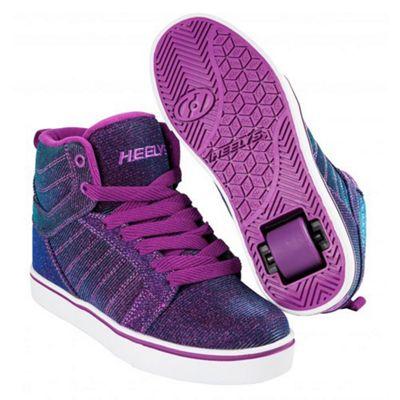 Heelys Uptown Berry/Aqua Colourshift Kids Heely Shoe JNR 12