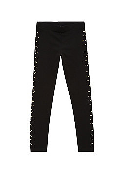 F&F Studded Leggings with As New Technology - Black