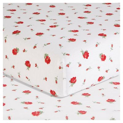 Tesco Floral Fitted Sheet Double