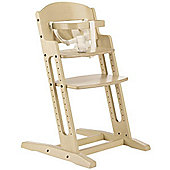 BabyDan DanChair Wooden Safety High Chair White Wash