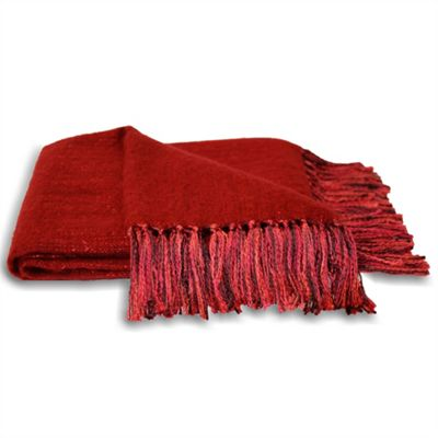 Riva Home Chiltern Red Throw - 127x180cm