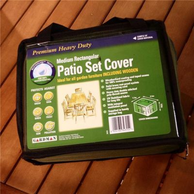 Gardman 8-10 Seater Rectangular Patio Set Cover- Green