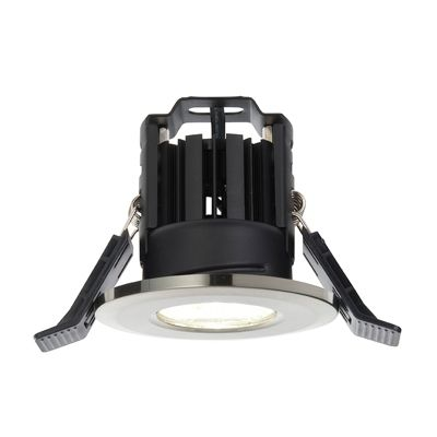 Shield LED 8W Natural White Recessed Downlight Satin Nickel Plate