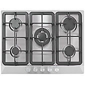 MyAppliances ART28928 70cm 5 Burner Gas Hob in Stainless Steel
