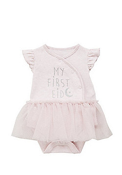F&F My First Eid Tutu Bodysuit - Pink