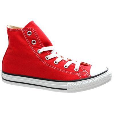 Converse All Star Hi Red Kids Shoe 3J232