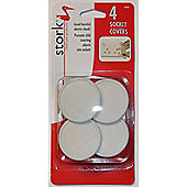 Stork Childcare Products Socket Covers Uk - 4 Pack