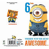 Despicable Me 6th Birthday Card
