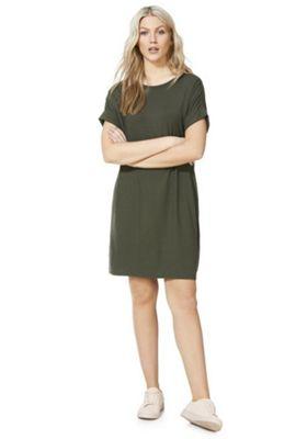 F&F T-Shirt Dress Khaki 6