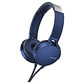 SONY MDR-XB550 AP ON-EAR BLUE W/MIC