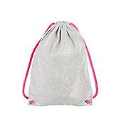 F&F Metallic Front Drawstring Bag