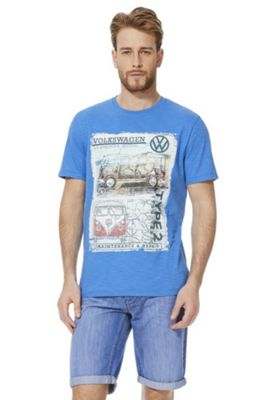 Volkswagen Graphic Short Sleeve T-Shirt Blue XL