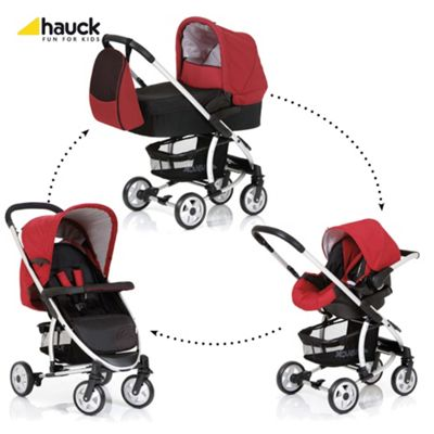 Hauck Malibu All-In-One Pushchair, Caviar/Tango