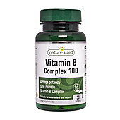 Natures Aid Vitamin B Complex 100 (Mega Potency) Time Release - 30 Tablets