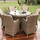 Maze Rattan - Winchester Venice 6 Seat - 1.35m Round Table