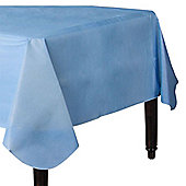 Baby Blue Flannel-Backed Vinyl Tablecover - 1.3m x 2.2m