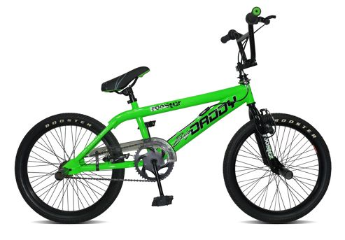 Big Daddy BMX Bike with Spokes, Neon Green