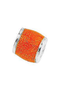 Amore & Baci Junior Orange Glitter Candy Wide Bead