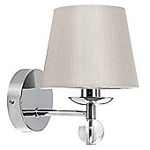 Bryantt Single K9 Crystal Wall Light Chrome with Silver Shade