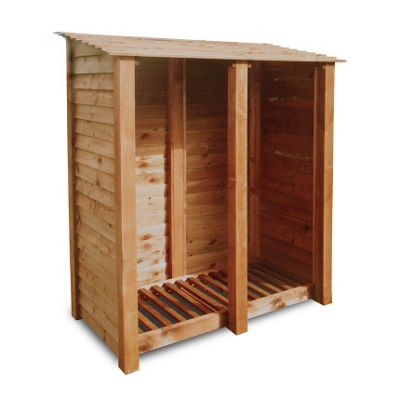 Cottesmore wooden log store - 6ft