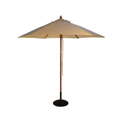 Brackenstyle Parasol Wood Pulley 2.5m Natural